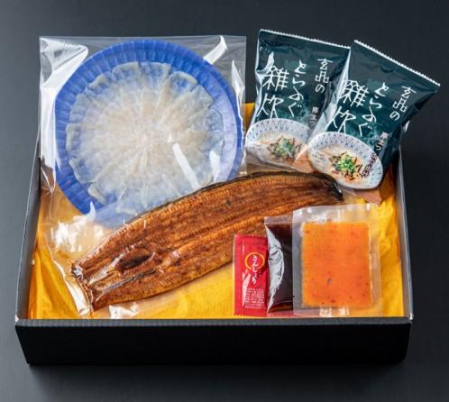 ★夢の饗宴★食の頂上決戦!「とらふぐ」と「鰻」の贅沢セット(ふぐ刺し・ふぐ雑炊入)